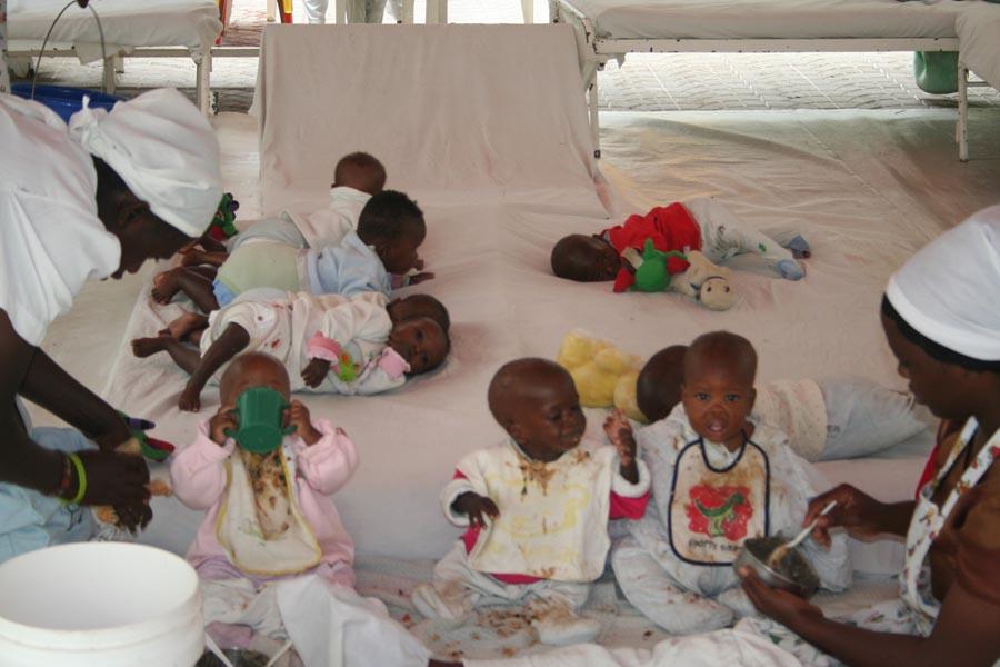 Opgevangen weeskinderen